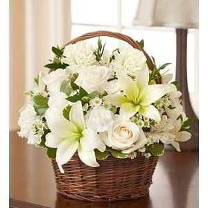 Parsippany Florist | Basket of Whites
