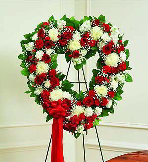 Parsippany Florist | Red & White Heart