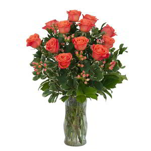 Parsippany Florist | 12 Orange Roses